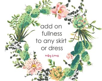 add  extra fullness to any dress or skirt for even more twirly look