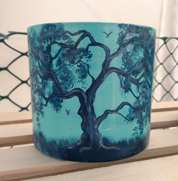 Handpainted Glass Candle Bowl