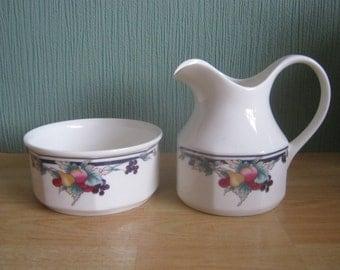Royal Doulton Autumns Glory Sugar Bowl and Milk Jug