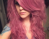 Die Pretty Crimped Hime Gyaru Layered Wig in Rose