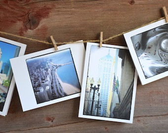 Chicago Photo Note Cards/Set of 4/Blank Note Cards/Hostess Gift/All Occasion Cards/Chicago Photography/Chicago City Scenes/Handmade Cards