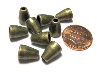 20pcs Antique Bronze Cone Bead Caps Tassel Caps Kumihimo Caps