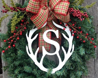 Rustic Christmas Wreath, Winter Wreath, Hoilday Wreath, Everyday Wreath, Southern Door Wreath