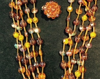 """Vintage 50's """"Western Germany"""" Necklace and Earring Set"""