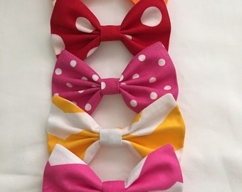 Custom Made Hair Bow this serve as a sample also for bow. Chevron hairbow, solid-bow, polka dot bow