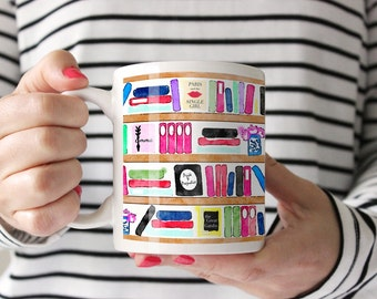 Brainy Bookshelf -- Geek Chic Mug -- 11 oz