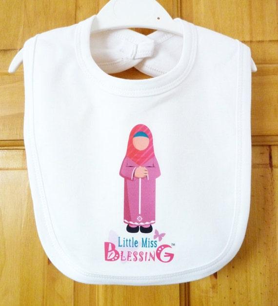 Baby Gifts For Muslim : Muslim baby bib shower gift dribble islamic