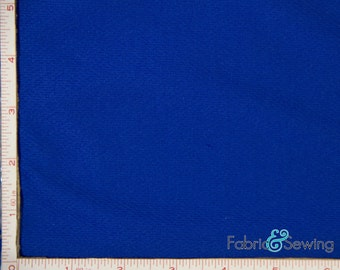 Royal Blue Dimple Mock Mesh Sport Fabric 2 Way Stretch Polyester 6.5 Oz 58-60""