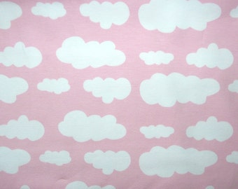 Fabric - jersey fabric - Pale pink cloud print knit
