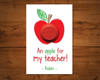An Apple for My Teacher Gift Tag- EOS Gift Tags- Teacher Appreciation- Back to School Teacher Gifts- Apple Gift Tag