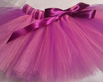 Pink and Purple Tutu, pink purple baby tutu, baby tutu, infant tutu, toddler tutu, newborn tutu, birthday tutu, cake smash tutu, preemie