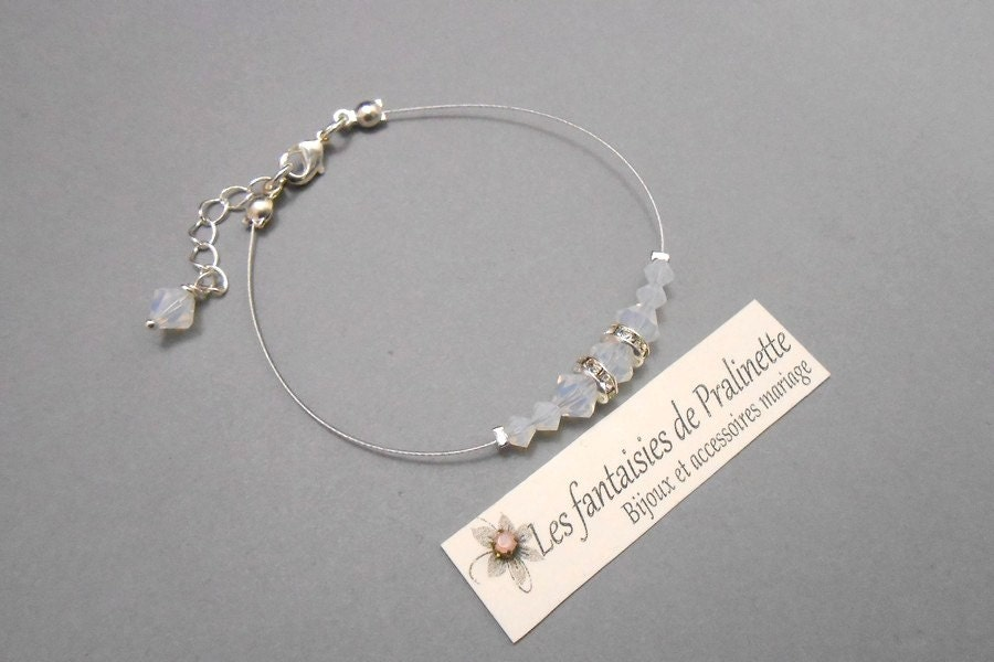 bracelet t moin demoiselle d 39 honneur d grad de perles en. Black Bedroom Furniture Sets. Home Design Ideas