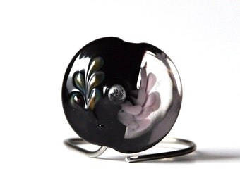 Lampwork focal lentil bead Elizabet