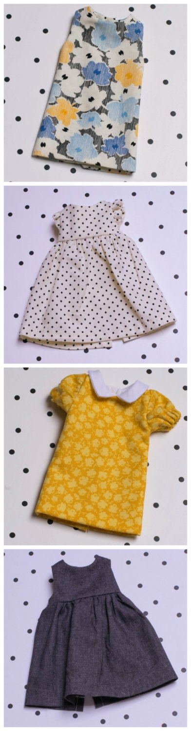 Small Doll Dress Sewing Pattern Collection