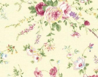 Rose Sprays Dark Cream 31361-10 by Lecien Cotton Fabric Yardage