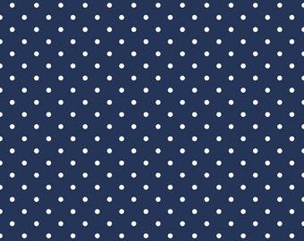 Swiss Dot - Navy (C670-21) Riley Blake Designs Fabric Yardage