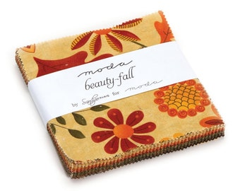 Beauty Fall Charm Pack by Sandy Gervais for Moda Fabrics - IN STOCK
