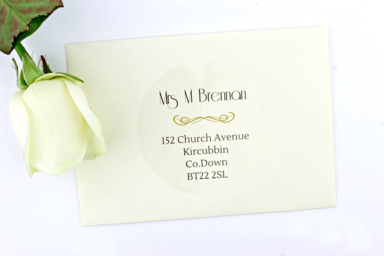 Return Labels For Wedding Invitations: Wedding Envelope Address Labels Return And Guest Addressing