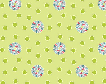 1/2 yard Feathers and Flourishes  Dots Lime 1065-44 from Contempo of  Benartex designed by Amanda Murphy