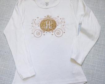 Cinderella Shirt - Glitter Monogrammed Shirt