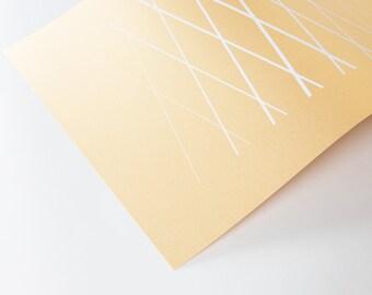 Metallic Print - Ed. 1 White on Gold