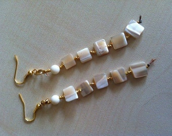 Ivory earrings.