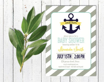 Anchor Baby Shower Invitation