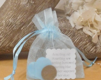Silver Sixpence Bridal Good Luck Gift
