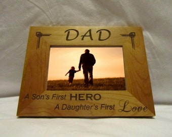 Personalized Wood Picture Frame- Dad