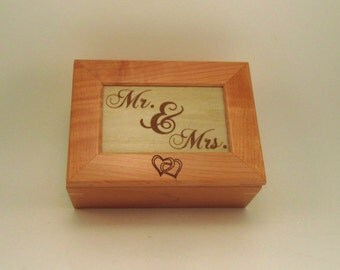 Personalized Wooden Wedding Keepsake Box- Mr. & Mrs.