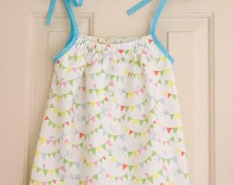 Handmade Girl's Sun/Pillowcase Dress - Child - Pretty - Holiday - Aged 1 Year - Bunting