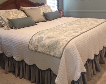 Custom Bedskirt - gathered - unlined - choose your own fabric and length