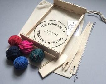 Weaving Loom Kit + Bright Wools