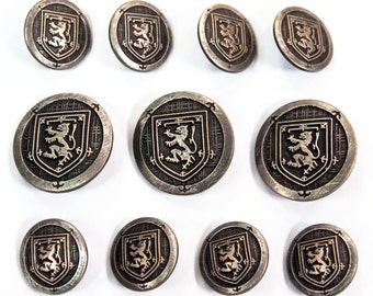 Antique Silver Blazer Buttons Set for suit jacket, blazer, or ...
