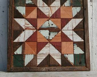 barn quilt,  mantel quilt block, rustic decor wall hanging