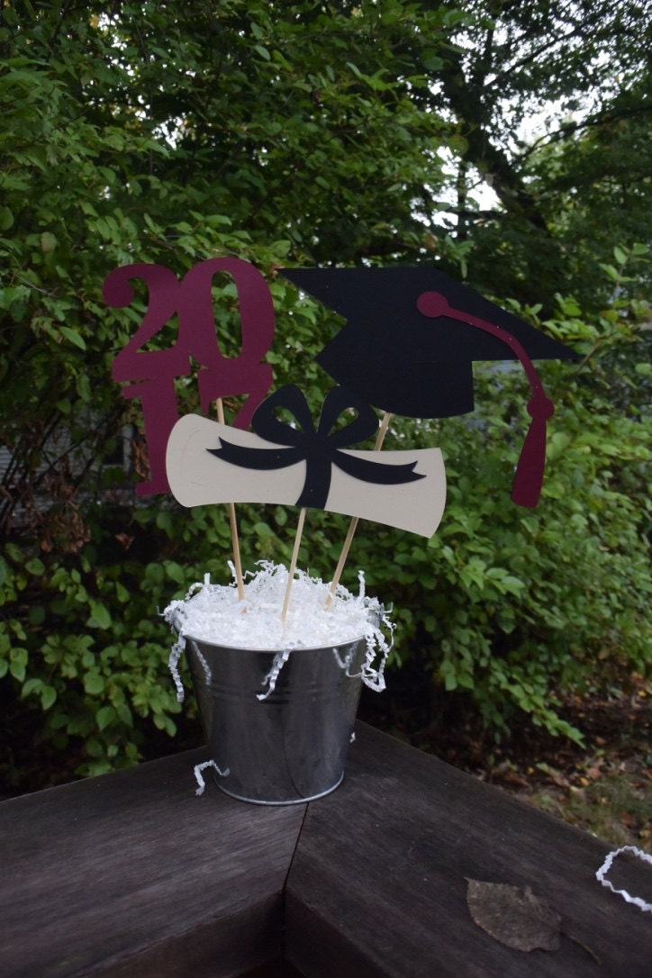 Graduation party centerpiece graduation table decorations - Deco de table campagnarde ...