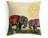 Elephant Gifts, Elephant Cushion, Elephant Pillow, Valentines Gift, Gift for Her, Gift for Woman,Circus Decor,Cute Cushions,Valentine Pillow
