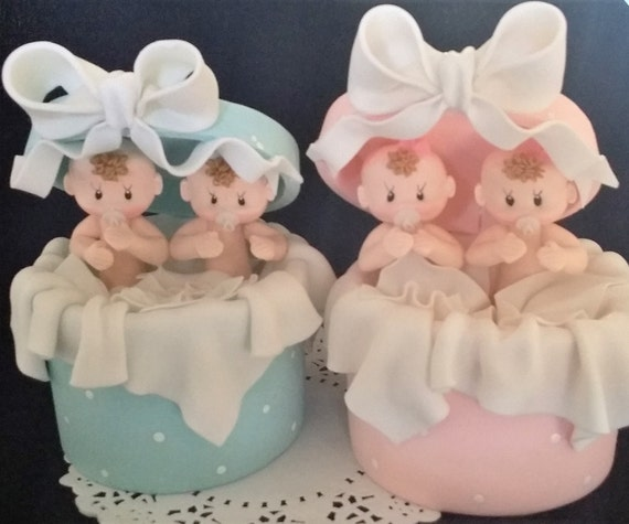 Twins Baby Shower Twin Girls Cake Topper Twins Baby Shower