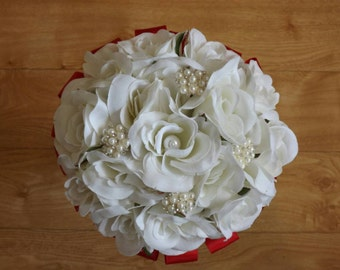 Silk rose bridal bouquet - any colour