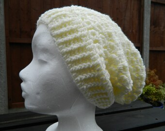 Cream Slouchy/Crocheted Slouchy