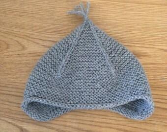 Grey Kids Knit Hat | Kids Earflap Hat | Grey Tassel Hat | Grey Earflap Hat