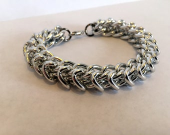 Thick Silver Chain Bracelet