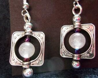 Rose Quartz in Silver