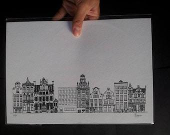 Amsterdam Houses III Large Print
