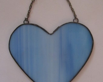 Stained Glass Simple Heart Suncatcher