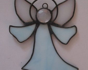 Simple Angel Suncatcher in Stained Glass