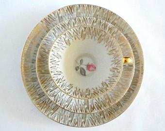 Vintage Porcelain China Trio Rieber Bavaria