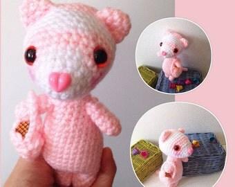 Amigurumi Pink Bear : Amigurumi Baby Bear Crochet Bear Pink Bear Crochet by ...