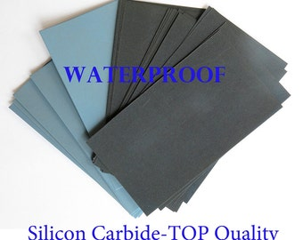"6 sheets EXTRA FINE Sandpaper Wet Dry 3""x 5 1/2"" COMBO 3000/5000/7000 Grit"