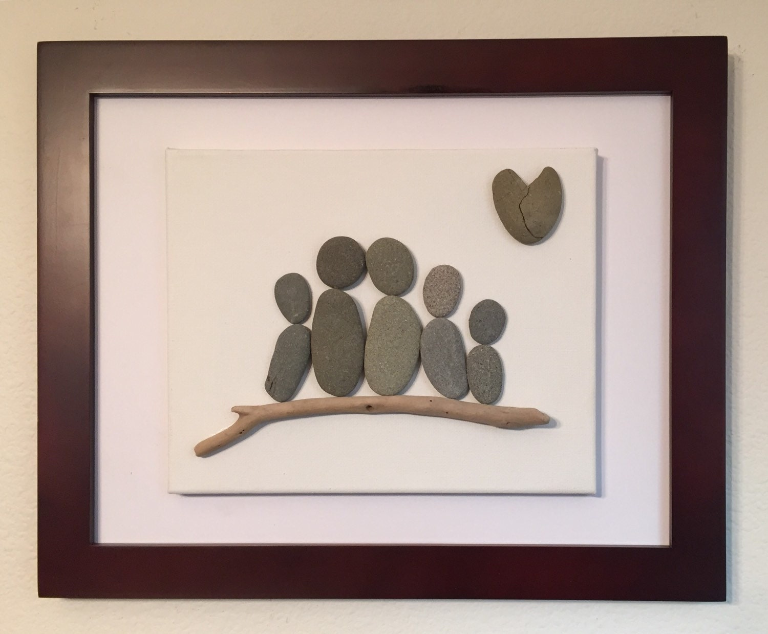 Pebble Art Family Of Five Canvas Family Sculpture